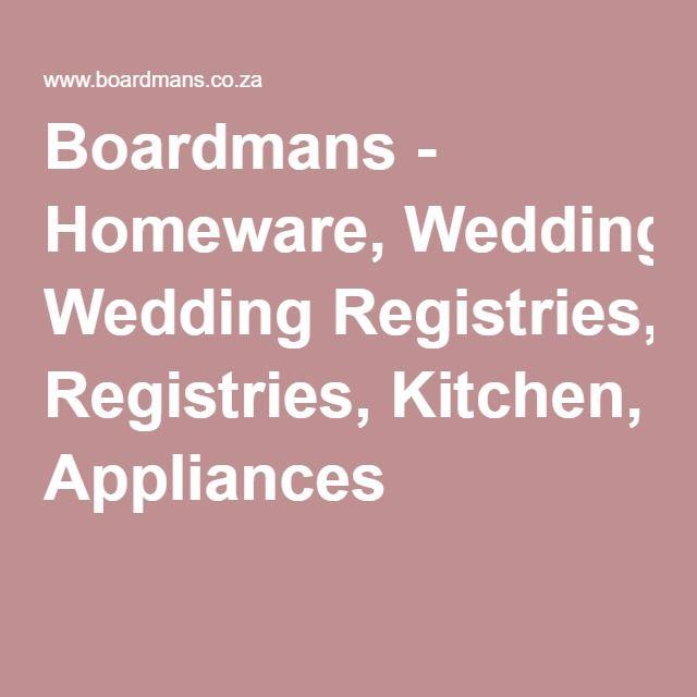 Boardmans Wedding Gift Registry