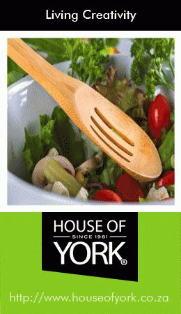 Bamboo Slotted Spoon - this lovely product is made from the eco-friendly bamboo plant and is perfect for salads. Available at House of York from only R19.95. #bamboo #houseofyork #utensils
