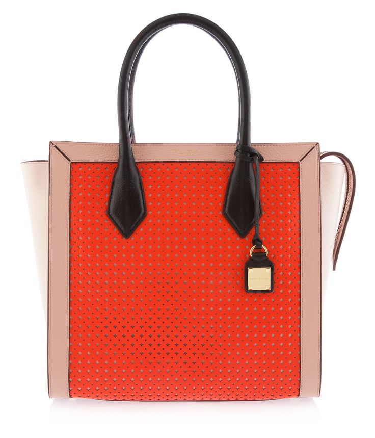 Rivington Perforated Tote, Orange – Leather Tote Bags | Henri Bendel