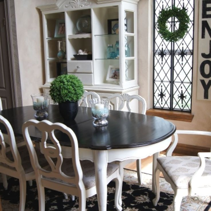Dining room table makeover dining room table room and for Painted dining room furniture