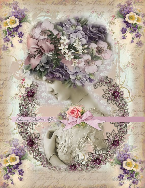 Digital collage sheet vintage instant download by whimsydust, $4.25