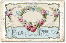 Item 30 Vintage Style French Soap Label Plaque