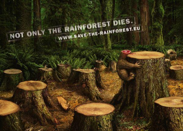 "Save the rainforest ""Blow Up"" (Outdoor) by Jacques Pense, via Behance"