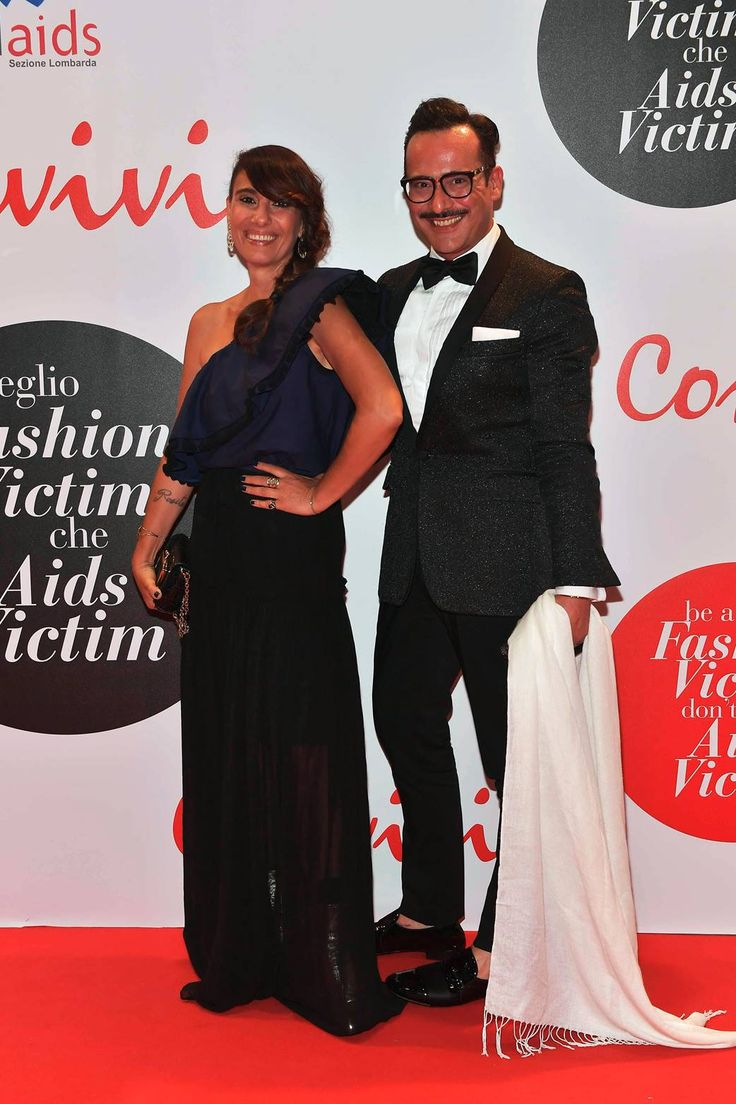 Paola Maugeri in PINKO total look attended Convivio Launch event with Antonio Frana
