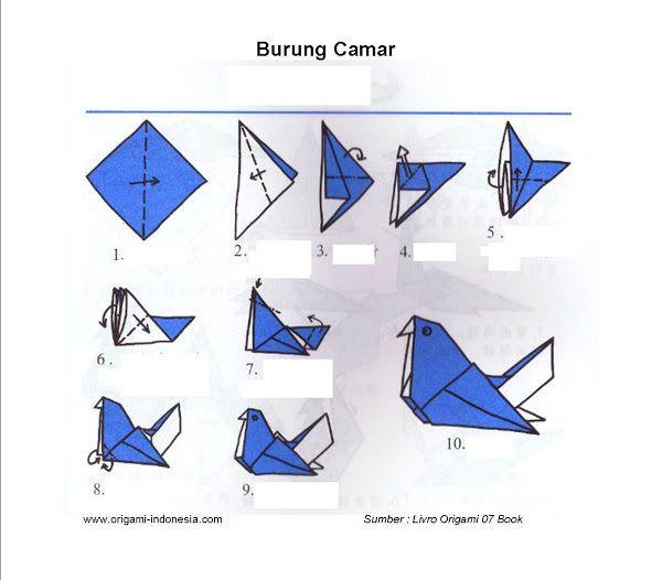 Langkah-langkah membuat Origami Burung Camar | Fachri's Blog