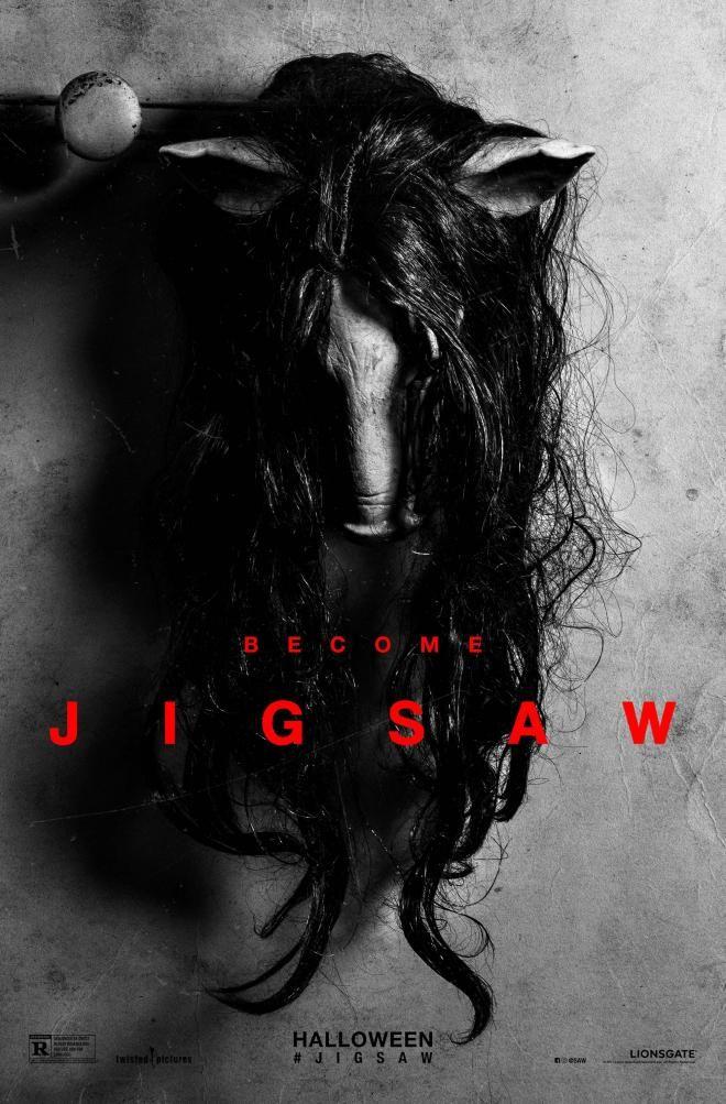 L'affiche du prochain opus de la saga Saw vient d'être dévoilée. Jigsaw sortira en salles aux USA le 27 octobre 2017 à l'occasion d'Halloween.