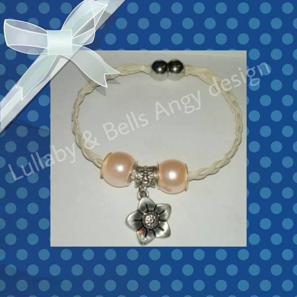 bracciale dolce intreccio bianco di Lullaby & Bells Angy design su DaWanda.com
