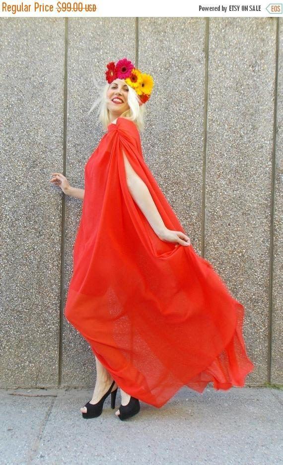 SALE 40% OFF Kaftan Cover Up Red Chiffon Dress Summer Maxi https://www.etsy.com/listing/196204852/sale-40-off-kaftan-cover-up-red-chiffon?utm_campaign=crowdfire&utm_content=crowdfire&utm_medium=social&utm_source=pinterest