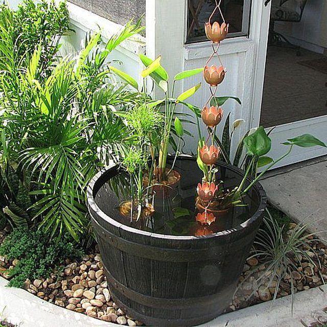 Make a Rain Chain Water Feature