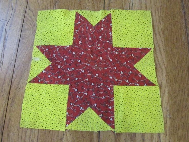 Early 1860s Star Quilt Block 2 | eBay