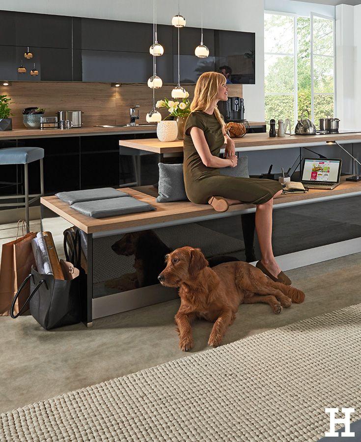 Diese offene Wohnküche läd zum verweilen ein. #küche #idee #einrichtung