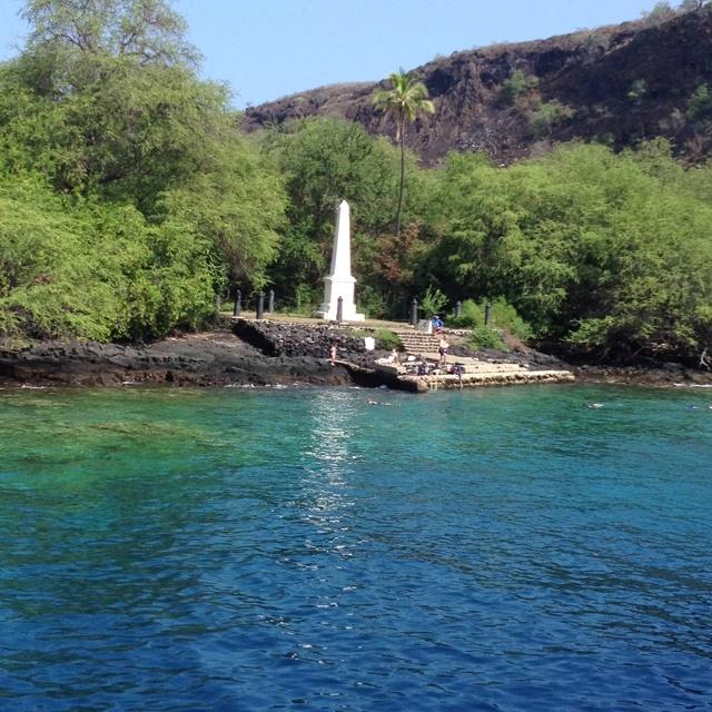 Captain Cook Monument, Kealakekua Bay, Hawaii