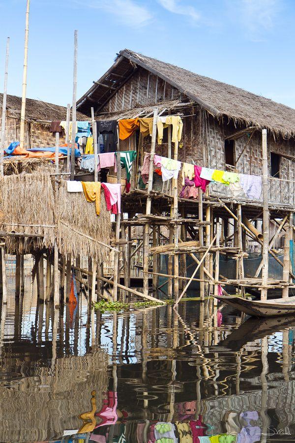Stilt House. Burma