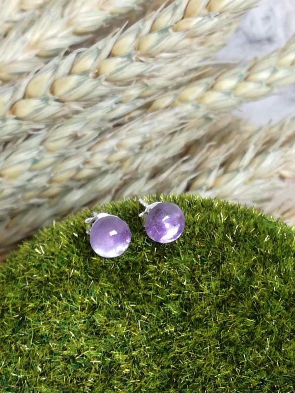 Amethyst Stud Earrings, Shiny Earrings, Sterling silver earrings, Silver earrings,  Silver Stud Earrings, Tiny Earrings, shining stones by BUSTANI on Etsy