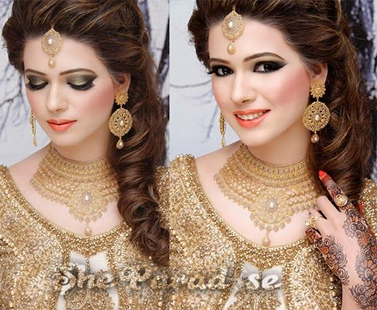 Bridal Makeup by Kashee's Beauty Parlour http://www.sheparadise.com/2015/05/bridal-makeup-by-kashees-beauty-parlour.html