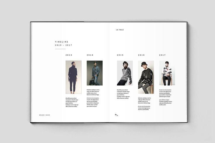 Fashion Brandbook Timeline Design Brochure Design Template Indesign Brochure Templates