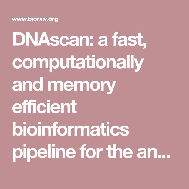 DNAscan: a fast, computationally and memory efficient bioinformatics pipeline for the analysis of DNA next-generation-sequencing data