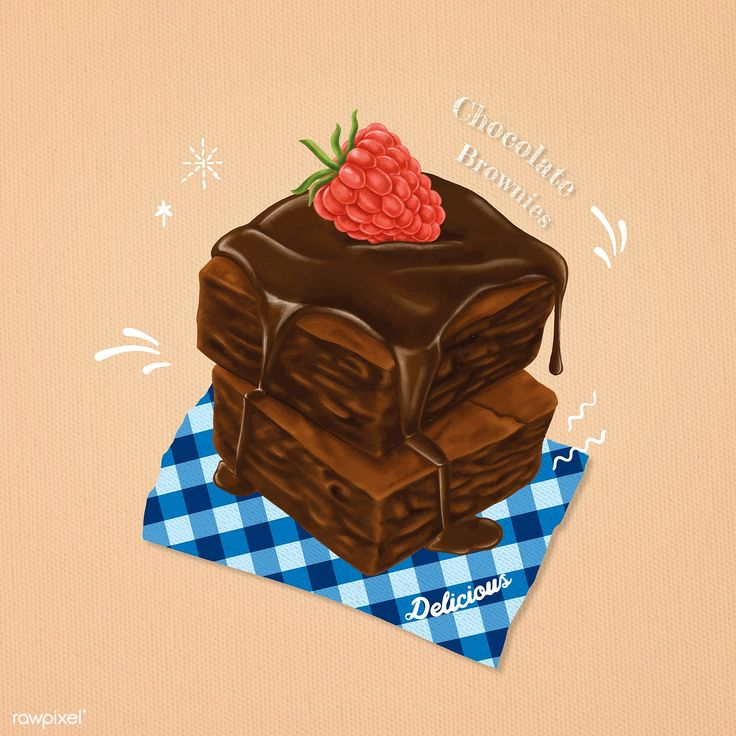 Download Hand drawn sweet brownies vector | free image by rawpixel ...