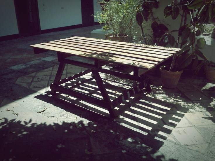 Mesa para exterior.