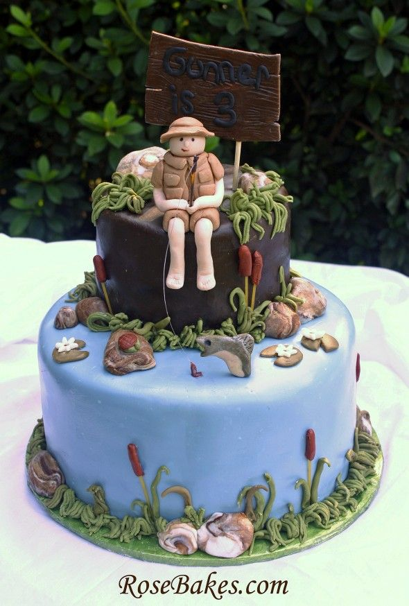 My friend Rose is a cake design genius, check out her work. Little Boy Fishing Birthday Cake.  Click over for more pics & details!