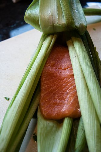 Grilled Salmon Steaks in Corn Husks... | Healthy Salmon Recipes | Pin ...