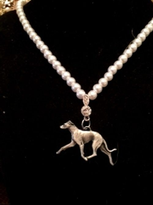 Italian Greyhound  Pearl Necklace~Classic pearls  IG grayhound