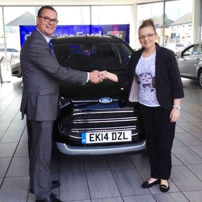 Louise Black picked up her new limited edition 14 plate Ford EcoSport from Shaun at our Southend showroom in April.