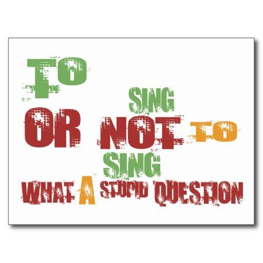 To Sing Postcard