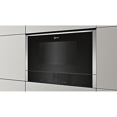 Buy Neff C17GR00N0B Built-In Microwave with Grill, Stainless Steel Online at johnlewis.com