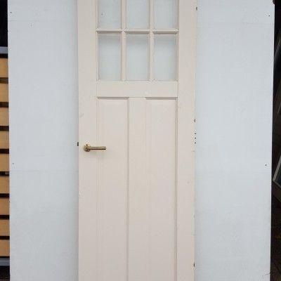 binnendeur met geslepen glas afm: 211,5x68