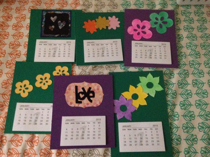 Cute mini calendars
