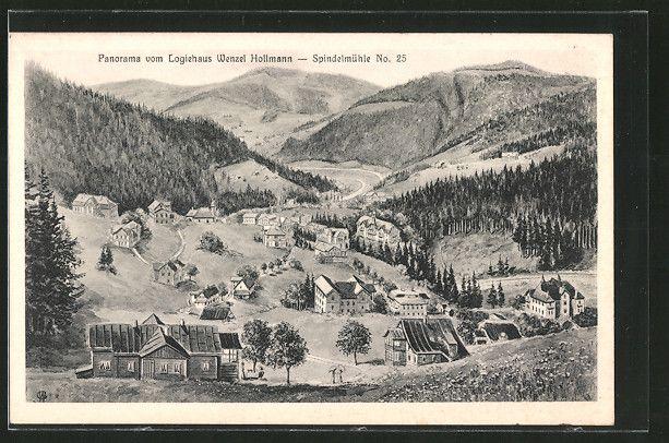 #Spindlermühle #Krausebauden #Hohenelbe #Böhmen #Hollmann #Riesengebirge