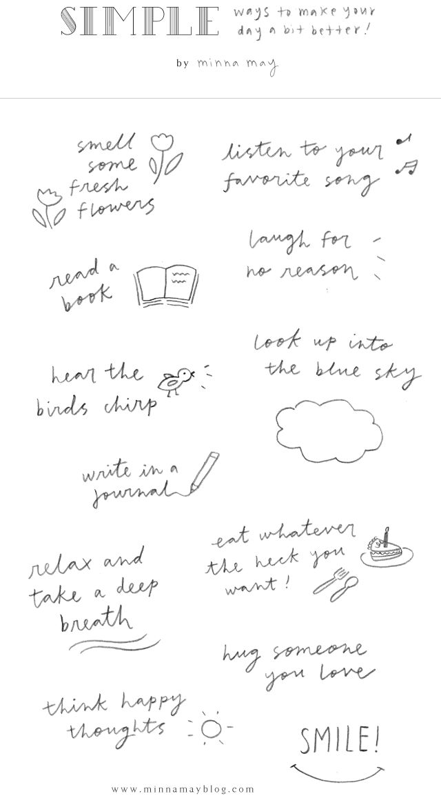 simple ways for a better day