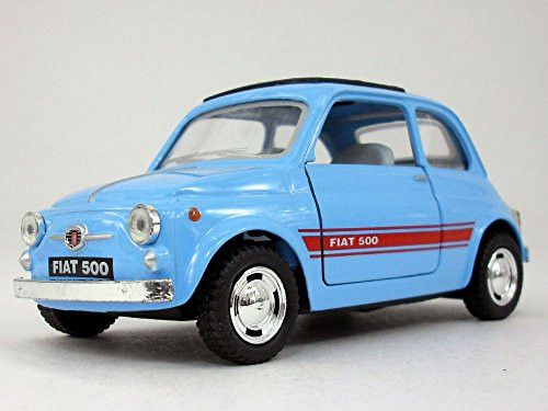 Classic Fiat 500 1/24 Scale Diecast Metal Model - LIGHT BLUE
