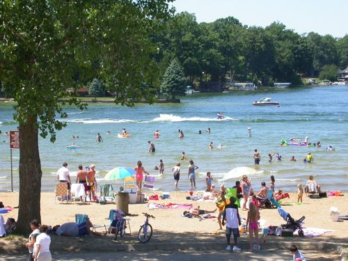 Goguac Lake in Battle Creek, Michigan in my old neck of the woods.