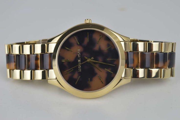 Michael Kors Damenuhr Uhr MK4284 Braun Gold