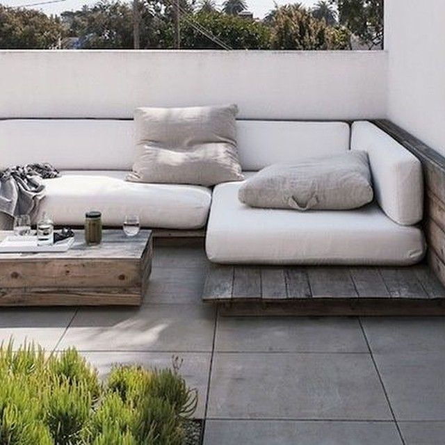 I wonder if this would actually look nice and be functional. ...where to store the cushions during the off months...is it too low? Do I need a platform at all or can I put cushions directly on my deck, with the railing as the backing?
