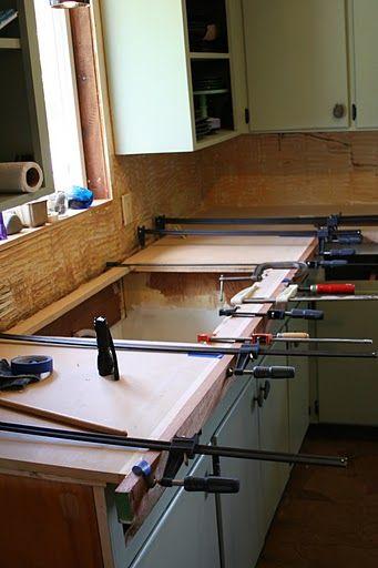 DIY copper countertops Tutorial   http://www.remodelaholic.com/2011/06/copper-countertops-tutorial-kitchen-renovation-idea/