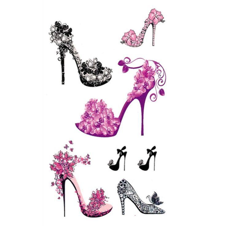 Korean High Heel Shaped Tattoo Stickers Cute Tattoo Stickers For Men And Women Drop Shipping