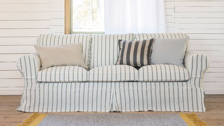 Bemz creates covers for IKEA sofas, armchairs, chairs and more in many shades of solid and patterned white, and in a variety of fabric qualities (from cotton to velvet to linen and more).