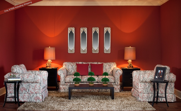 This room offers a taste of retro luxe and Asian aesthetics, yet is on-trend with the combination of orange and natural palette. Love it? You can have this room in your home. http://buyposhrrooms.com