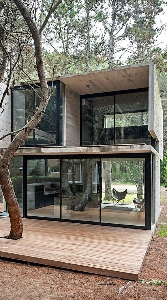 Container House - Luciano Kruk Designs a Home in the Seashore Town of Mar Azul, Argentina - Who Else Wants Simple Step-By-Step Plans To Design And Build A Container Home From Scratch? #ContainerHomeDesigns
