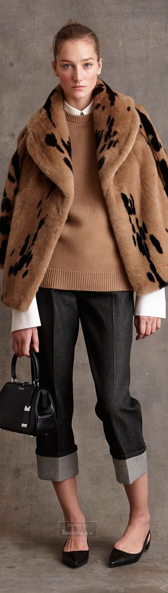Michael Kors scored a home run with this outfit -  I would love to snuggle up in this fake fur.