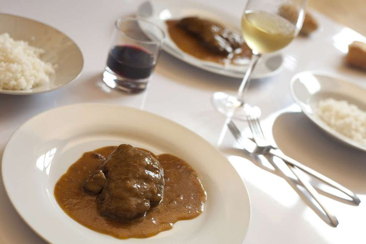 solomillo de ternera con salsa de vino tinto