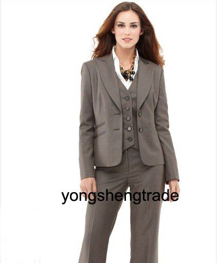 A classic suit, with matching skirt and pants - I especially like the vest with this!
