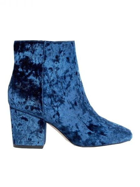 We are in LOVE with these blue velvet booties from ASOS.
