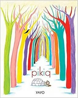 Pikiq: In the far, far north, Pikiq finds paint, paintbrushes, and a book abandoned in the snow. The book is filled with pictures of tropical animals and far away places. Inspired, Pikiq draws fantastic creatures everywhere, and colour bursts onto the white landscape.