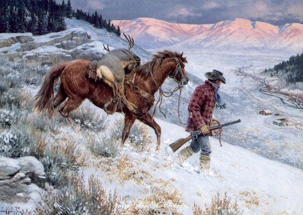 """No Place Like Homeby Clark Kelley PriceOpen Edition, Image Size 16x24 -Western Art"