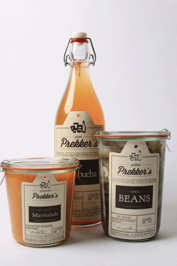 Prekker's: Branding & Identity. by Michaela Frokjer, via Behance