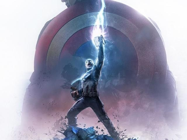 Download 1080x2280 Captain America Thor Hammer One Plus 6 Huawei P20 Honor View 10 Vivo Y85 Oppo F7 X American Wallpaper Captain America Wallpaper Thors Hammer
